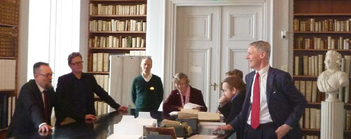 The research group Textual Scholarship visited Litteraturvetenskapliga institutionen at Uppsala University March 2014